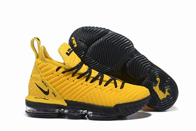 Nike Lebron James 16 Air Cushion Shoes Yellow Black